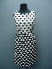 SHOSHANNA Black White Polka Dot Back Zip Knee Length Casual Dress Sz 6 FF1517