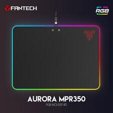 Fantech Computer Gaming RGB Hard Mouse Pad Speed Surface Aurora MPR350 Black