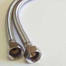 """Pair M10 x 1/2"""" BSP Basin Monobloc Mixer Tap Connector Flexi Hose Tails 500mm"""