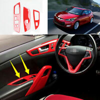 For Hyundai Veloster 2012-2017 ABS red Window lift panel switch cover trim 4pcs