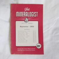 Vtg Sept 1953 MINERALOGIST Rocks Minerals Gems rockhound fossils OR, agates