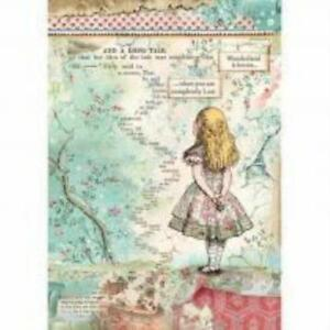 A4 Rice paper - Alice in Wonderland design decoupage paper, scrapbook sheet