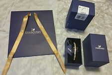 BNWT BOX & BAG GENUINE SWAROVSKI ROSE GOLD DOMINO BANGLE BRACELET 5184147  GIFT