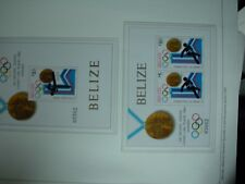 Olympiade 1980 olympia BELIZE LUXUS-Block olympia Medailliengewinner 2 BLOCK