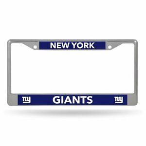 New York Giants Lightweight Chrome Metal License Plate Frame