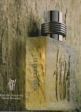 Publicité Advertising  ///   1881  eau de toilette  NINO  CERRUTI  .....