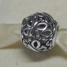 New Authentic Pandora Charm Openwork Butterflies 790895 W Tag & Suede Pouch
