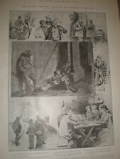 Types of the East End London Unemployed H H Flere 1905 old prints