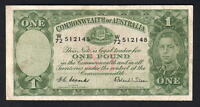 Australia R-32F. (1952) One Pound - Coombs/Wilson.. 1st Prefix W/72.. Fine