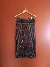 Romeo And Juliet Couture Floral Russian Doll Sweater Maxi Body Con Skirt Size M
