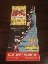 Vintage Ocean Hiway Travel Map, 1954.