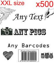 500 XXL Personalised return address label adhesive custom sticker 100x150mm