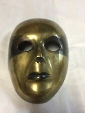 Vintage Brass Theater Mask Wall Decor Hanging 51/2""