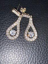Drop Dangle Diamante Crystal Earrings 925 Silver