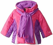 NWT Pacific Trail Infant Puffer Coat Pink/Purple with Matching Scarf Size 18M