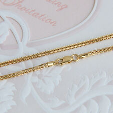 Wheat Link Chain Stamp: Au750 21.6Inch 18K Yellow Gold Necklace 2mm