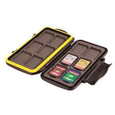 Ares Foto® Speicherkarten Schutzbox / Memory Card Case / Tasche für 12 SD Karten