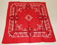 Vintage Red Fast Color All Cotton Bandana Handkerchief Hav-A-Hank RN15187 USA