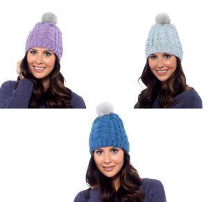 Ladies Foxbury Winter Beanie Hat With Pom GL554
