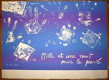 Cremonini Mai 68 Affiche originale sérigraphie mille et une nuit pour le pavé