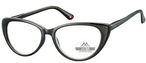 BLACK LADIES CATS EYE READING GLASSES for women +1 1.5 2 2.5 3 3.5  cat eyes UK