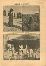 Alfonso XIII de Espana & Victoria Eugenia/Menelik II Abyssinie 1908 ILLUSTRATION