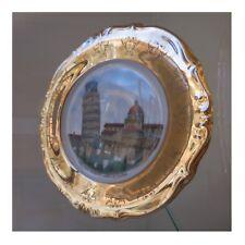 Assiette décorative céramique porcelaine Tour de Pise art nouveau Italie N97