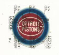 "New Vintage NBA Detroit Pistons Just over 3"" Lextra Logo Iron On Patch"