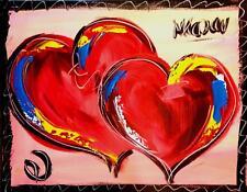 Mark Kazav Original Signed w/COA painting HEARTS  ESDF