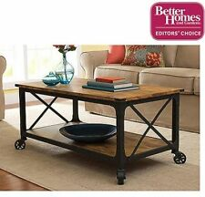 Coffee Table Living Room Furniture Wood Rustic Country Antiqued Black/Pine Finis