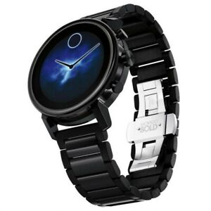 Movado Connect 2.0  Black Stainless Steel & Ionic Unisex Smartwatch 3660037 42mm