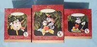 Lot of 3 ~ Disney Mickey & Co ~ Classic Hallmark Keepsake Ornaments 1997-98