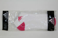 1 pair New Adidas womens size 9-12au core ped low cut socks pink white