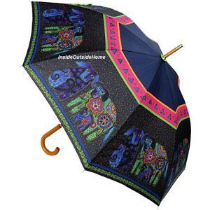 Laurel Burch STICK Umbrella Dancing Dogs Doggies LG Canopy New RETIRED