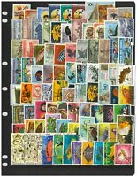 Papua New Guinea 100 Different Stamps Mint & Used Mixed In Glassine Bag