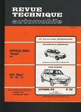 (30A) REVUE TECHNIQUE AUTOMOBILE FIAT RITMO / CHRYSLER SIMCA HORIZON