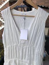 "Ladies ""WITCHERY"" Milk White Eyelet Beach Dress Size 12 Brand New With Tags!"