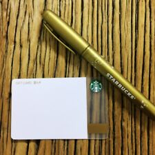 2017 Starbucks China Chrismas DIY Create Your Own Gift Card With Golden Pen