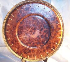 Decorative plate with tied edge. Big and heavy 13 3/4""