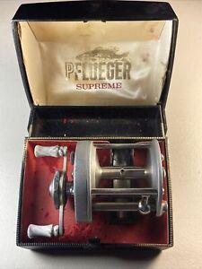 Pflueger Free Spool Supreme 1575 Antique Fishing Reel Manuel - In Showcase