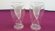 DOUBLE LAYER MERMAID FISH TAIL  DRINKING GLASSES X 2                      #NSDC#