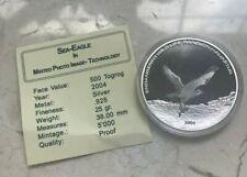 2004 Mongolia 500 Tugrik Silver Proof - Osprey Hologram - With COA