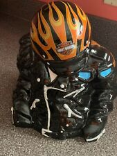 "Rare ""On Fire"" Edition - Harley-Davidson Leather Jacket Cookie Jar"