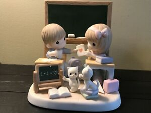 Precious Moments Love Is The Most Important Lesson Figurine #151055 Valentines