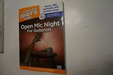 The Complete Idiot's Guide Open Mic Night For Guitarists Book 2 Cds NEW!