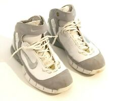 Nike Hurache 2005 Kobe Bryant White and Gray with Number 8 Basketball Sneakers