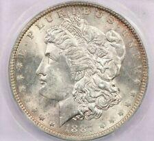 1887-O 1887 Morgan Silver Dollar ICG MS64 beautiful flashy coin