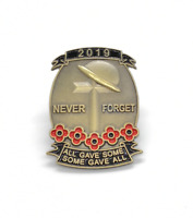 Limited 2019 Remembrance Day Solider Veteran Red Poppy Enamel Pin Badge Brooch