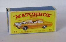 Repro Box Matchbox 1:75 Nr.36 Opel Diplomat goldfarben