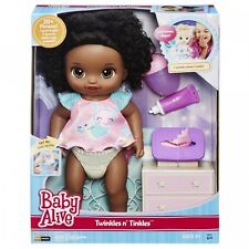 Baby Alive Twinkles N 'Spurt (afroamericano) BAMBOLA INTERATTIVA PARLA Eng.